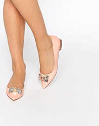 Asos Laughter Pointed Ballet Flats Beige