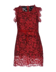 Via Delle Perle Vdp Collection Short Dresses Red