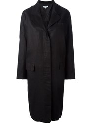 Opening Ceremony Oversized Lightweight Overcoat Black