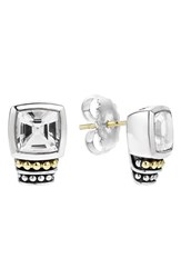 Lagos Women's 'Caviar Color' Semiprecious Stone Stud Earrings White Topaz