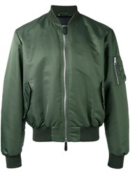 J.W.Anderson Arm Zip Bomber Jacket Green