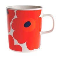 Marimekko Oiva Unikko Mug Small White Red