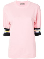 Sportmax Short Sleeve T Shirt Pink And Purple
