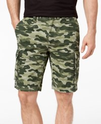 Club Room Men's Classic Fit Camouflage Print 9 Cargo Shorts Created For Macy's