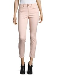 Ivanka Trump Solid Skinny Ankle Length Jeans Blush