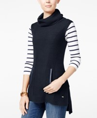 Tommy Hilfiger Blair High Low Sleeveless Tunic Only At Macy's Masters Navy