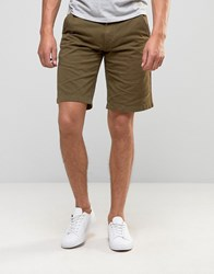 Barbour Newston Twill Chino Shorts In Green Willow Green