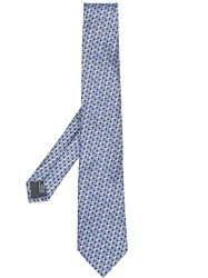 Lanvin All Over Pattern Tie Grey
