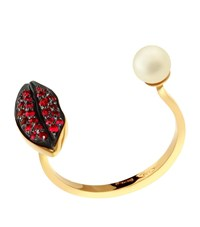 Delfina Delettrez Lips Piercing Ring Female Red