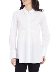 Ellen Tracy Fit And Flare Tunic Shirt White