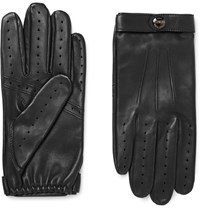 Dents Dent Fleming Perforated Leather Driving Glove Black