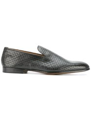 Doucal's 'Scarpa Capri' Woven Loafers Men Leather 43.5 Black