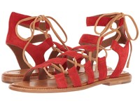 Frye Blair Side Ghillie Red Soft Oiled Suede Women's Dress Sandals
