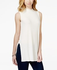 Bar Iii Sleeveless Mock Turtleneck Swing Top Only At Macy's