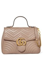 Gucci Gg Marmont Medium Quilted Leather Shoulder Bag Beige