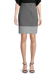 Imnyc Isaac Mizrahi Project Runway Challenge Winner Stanley Hudson X Striped Ponte Pull On Pencil Skirt Black Bicolor Stripe
