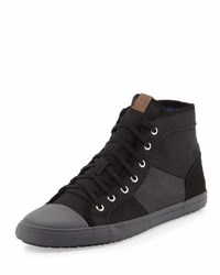 Ben Sherman Mason Patchwork High Top Sneaker Black