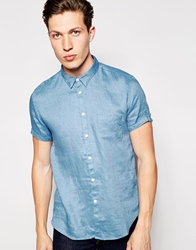 Dkny Short Sleeve Shirt Blue