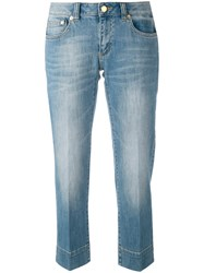 Michael Michael Kors Stonewashed Cropped Jeans Women Cotton Spandex Elastane 8 Blue