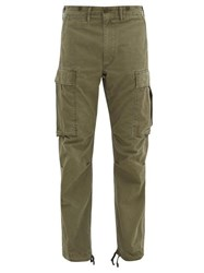 Rrl Cotton Twill Cargo Trousers Green