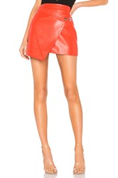 Blank Nyc Faux Leather Wrap Skirt Red