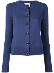 See By Chloe Round Neck Cardigan Blue