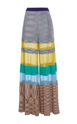 Missoni Colorblock Stripe Pants Grey Red Green