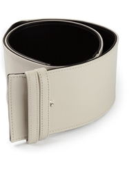 Agnona Thick Lambskin Belt Nude And Neutrals