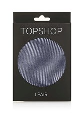 Topshop Micro Fishnet Tights Navy Blue