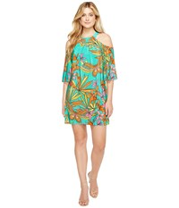 Trina Turk Spirit Dress Cabana Teal Women's Dress Blue