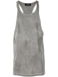 Dsquared2 Studded Tank Top Grey