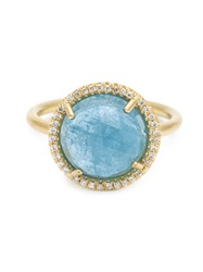 Irene Neuwirth Diamond Pave Aquamarine Ring Blue