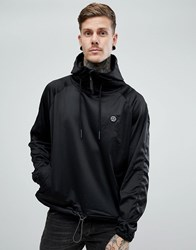 Religion Hoodie With Funnel Neck In Tricot Black
