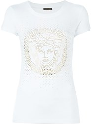 Versace Medusa Slim Fit T Shirt White