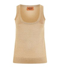 Missoni Lurex Tank Top Female Gold