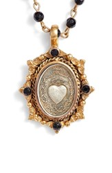 Virgins Saints And Angels Oval Pinto Sacred Heart Magdalena Rosary Necklace