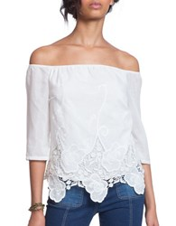 Plenty By Tracy Reese Off The Shoulder Lace Top Ivory