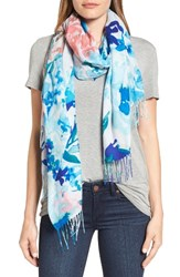 Nordstrom Women's Tropical Camo Cashmere And Wool Scarf