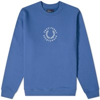 Fred Perry Embroidered Logo Sweat Blue