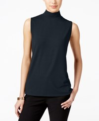Charter Club Mock Turtleneck Shell Only At Macy's Deepest Navy