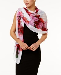 Inc International Concepts Floral Heart Evening Wrap Only At Macy's White