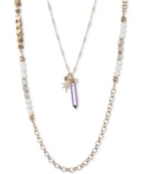 Lonna And Lilly Beaded Crystal 24 40 2 In 1 Necklace Purple