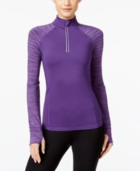 Ideology Quarter Zip Rapid Dry Performance Top Only At Macy's Night Iris Spacedye