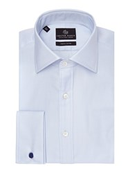 Chester Barrie Herringbone Tailored Fit Formal Shirt Sky