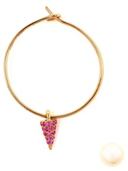 Asherali Knopfer Interchangeable Sapphire 'Lou' Hoop Earring Pink And Purple