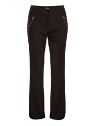 Morgan Zip Detail Bootcut Trousers Black