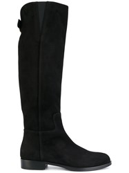 Dolce And Gabbana Dg Riding Boots Women Lamb Skin Leather 38.5 Black