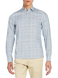J. Lindeberg Regular Fit Printed Sportshirt Blue