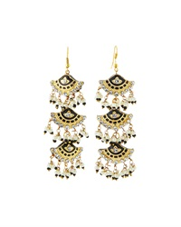 Chamak By Priya Kakkar Fan Style Tier Drop Earrings