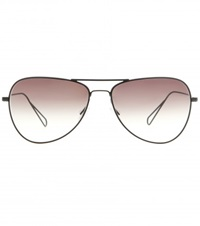 Isabel Marant Matt Aviator Sunglasses For Oliver Peoples Black